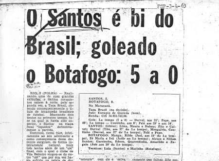 jornais da época: Santos bicampeão brasileiro. Por que mudaram?